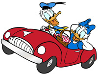 Donald-Daisy-Duck-Car